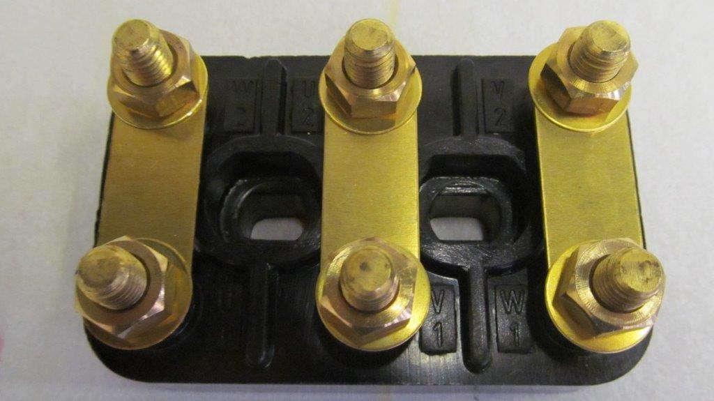 6 Stud Terminal Block Manufactured From A High Arc