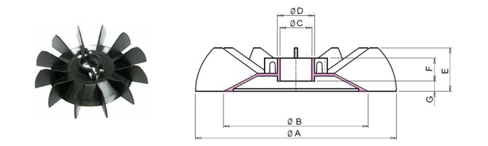 Electric Motor Plastic Fan Blade : Pl series screw clamp plastic motor fan plw engineering